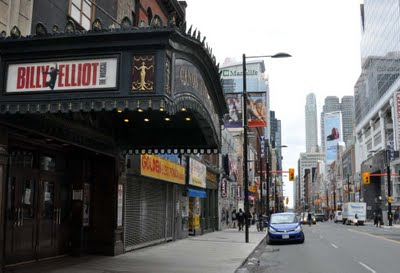 The Canon Theatre (now the Ed Mirvish Theatre) - Home of Billy Elliot the Musical in Toronto for 248 Performances