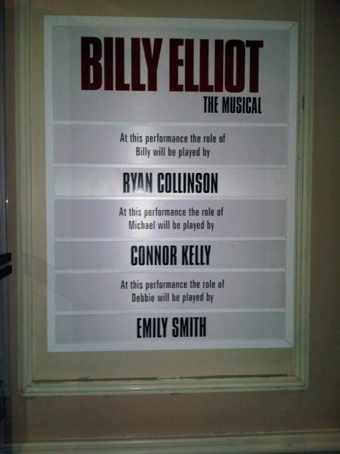 Cast Board for Ryan's Debut