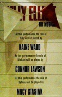 Kaine Ward 1st Show Cast Board