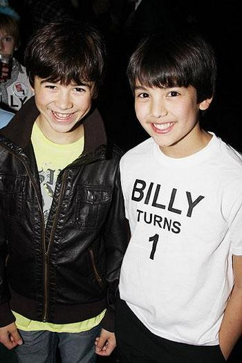 Keean Johnson (Michael) & Alex Ko (Billy) Celebrate Billy's First Birthday on Broadway2