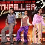 Three boys playing the role of Michael Jackson in 'Thriller Live' Musical at the Lyric Theatre, London, Britain – 04 Dec 2008