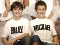 Leon Cooke (Billy) and Joey Phillips (Michael)