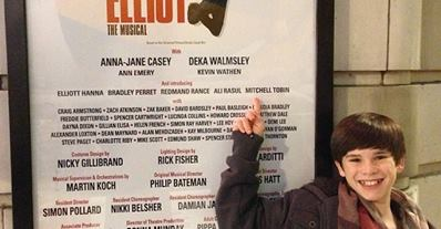 Mitchell at the BETM Cast Board in London