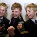Original Three Billys With Their Olivier Awards