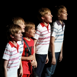 Redmand Performs in the Youth Gala Finale with the then Four West End Billys (l-r: Scott Mckenzie, Ryan Collinson, Redmand, Josh Baker and Dean-Charles Chapman)