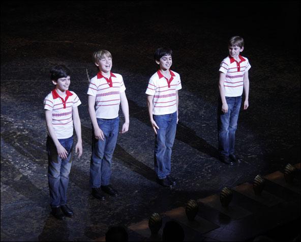 The Final Four Broadway Billys (l-r Peter Mazurowski, Joseph Harrington, Julian Elia and Tade Biesinger)