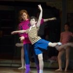 Ruthie Henshall (Mrs. Wilkinson) and Brodie Donougher (Billy)