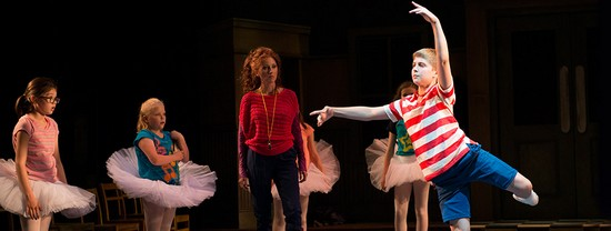 Billy (Noah Parets) Dances Watched by Mrs. W (Anastasia Barzee) and the Ballet Girls
