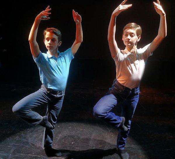 Media Theatre's Billy Elliots (l-r) Gunar Daniels & Brandon Ranalli
