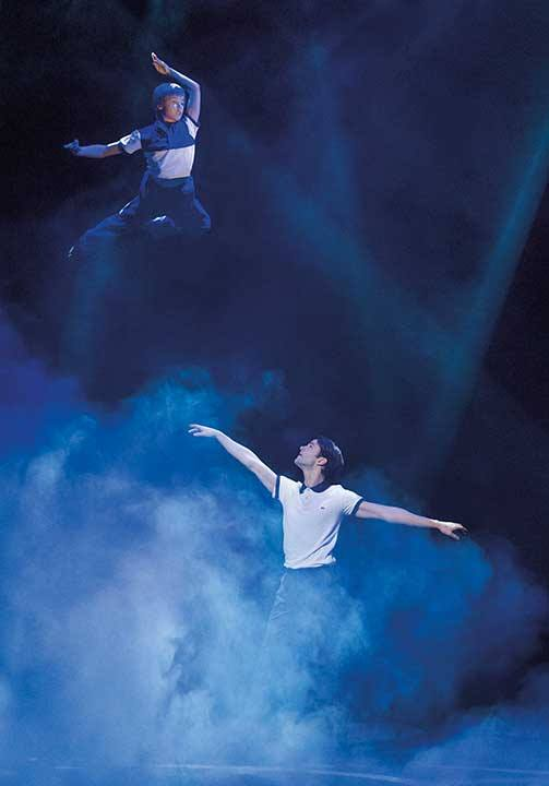Nicolas Markovic (Billy) and Miles Hoare (Older Billy) in Dream Ballet
