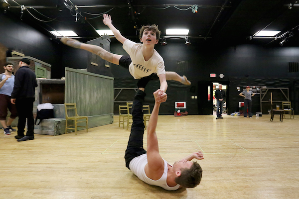 "Sam Faulkner (Billy) and Maximilien Baud (Older Billy) Rehearse ""Dream Ballet"""