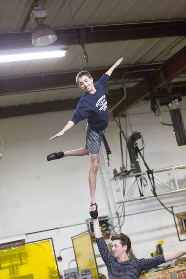 Kyle Halford Rehearses Flying for Dream Ballet Jeff Schear