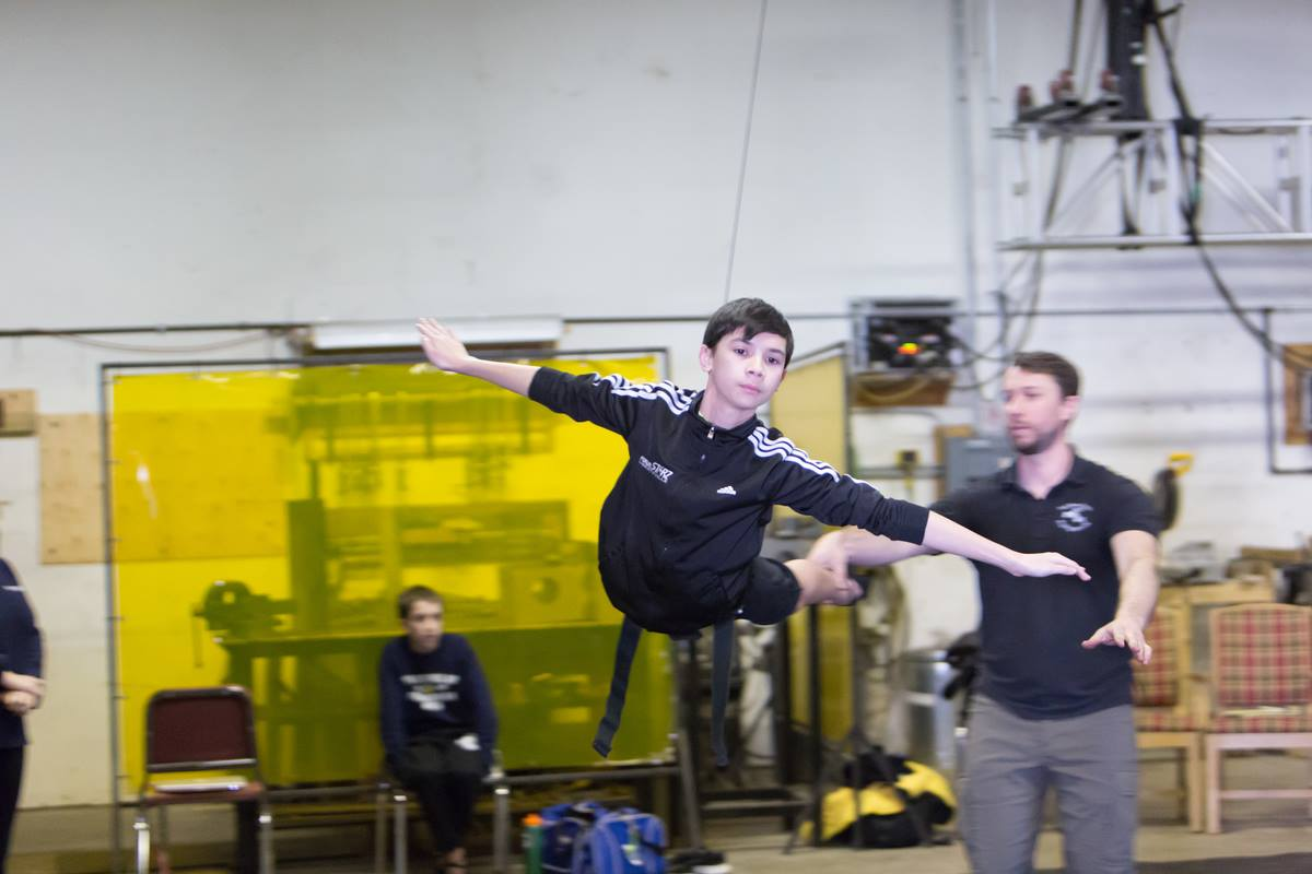 Nicholas Dantes Rehearses Flying for Dream Ballet