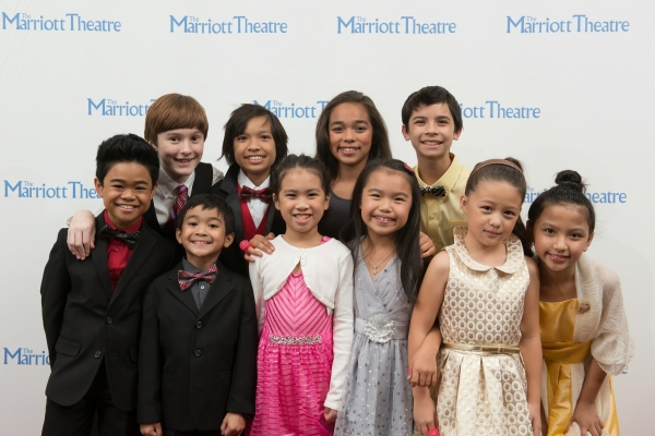 Nicholas and Fellow Cast Members of The King & I at the Marriott Theatre.