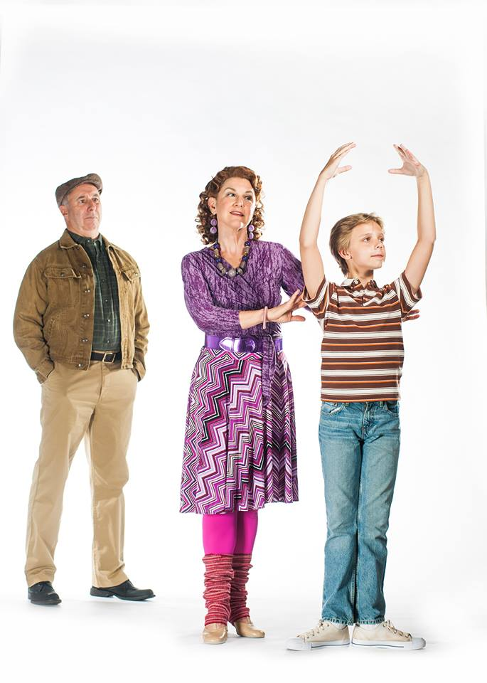 Dad (Christopher Bloch) Watches as Mrs. Wilkinson (Lyn Cramer) Works With Billy (Brooks Landegger)