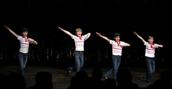 BETM Broadway's Final Four Billys (l-r Peter Mazurowski, Joseph Harrington, Julian Elia and Tade Biesinger)