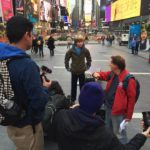 Jamie Mann Films in Times Square