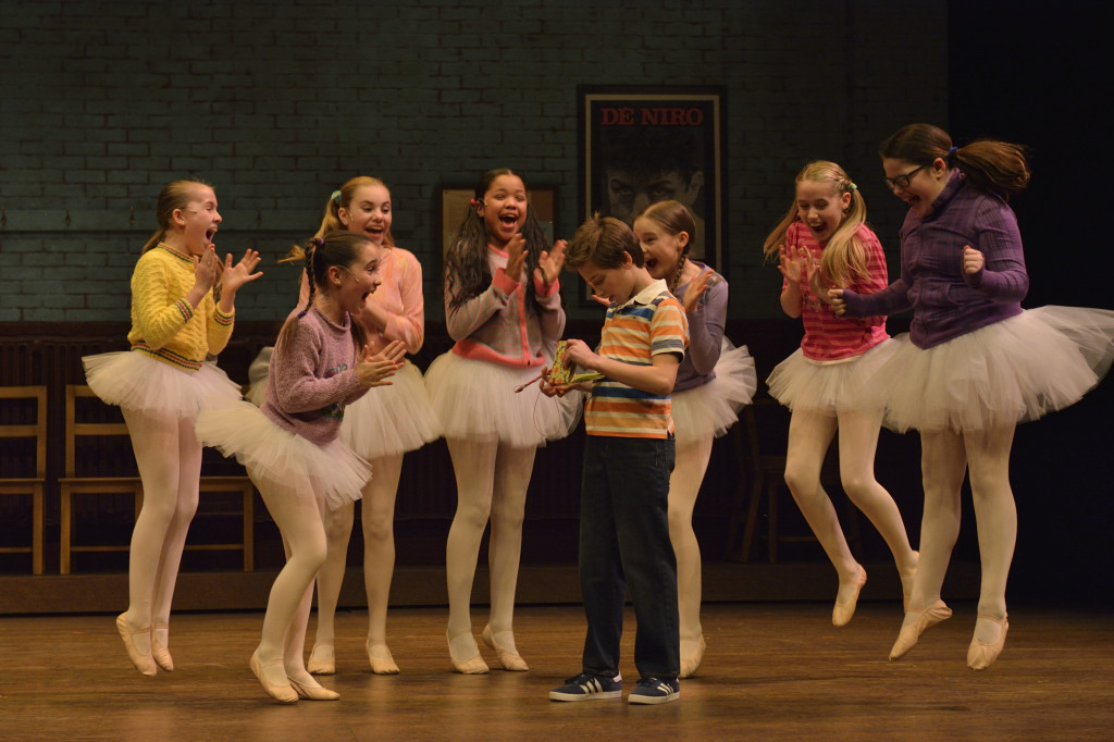 Ethan Ribeiro (Billy) and the Ballet Girls              Photo by Robert Tinker