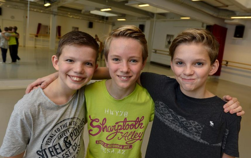 The Swedish Billys (l-r Jacob Hermansson, Grim Lohman and Oliver Lohk)