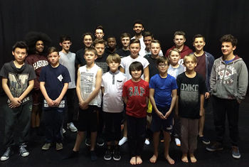 Lord of the Flies Cast at the Alhambra Theatre (Matthew is in the 1st row center)