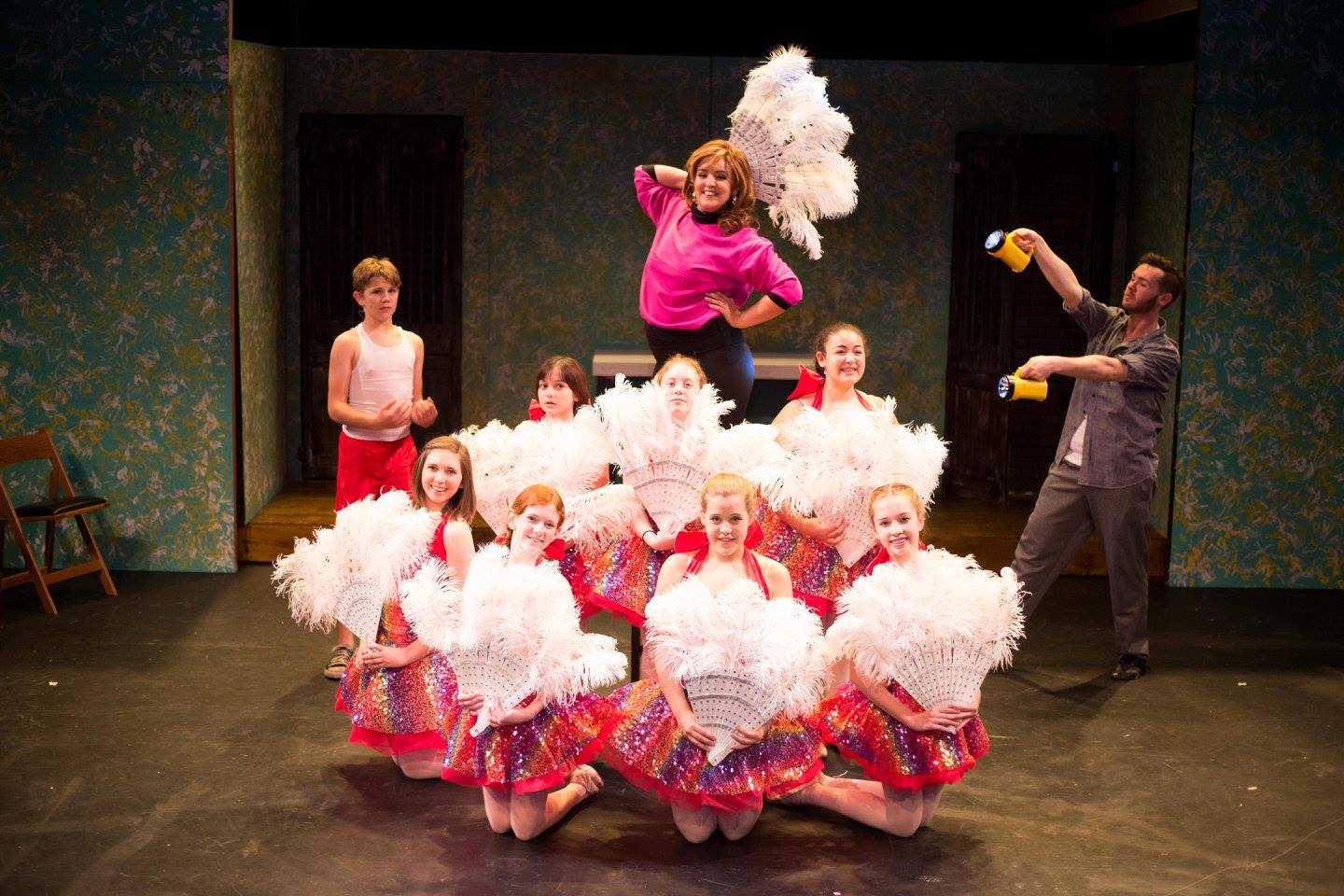 Ford Mirowski (Billy), Sally Trtan (Mrs. Wilkinson), Sean Patrick Rooney (Mr. Braithwaite) & the Ballet Girls