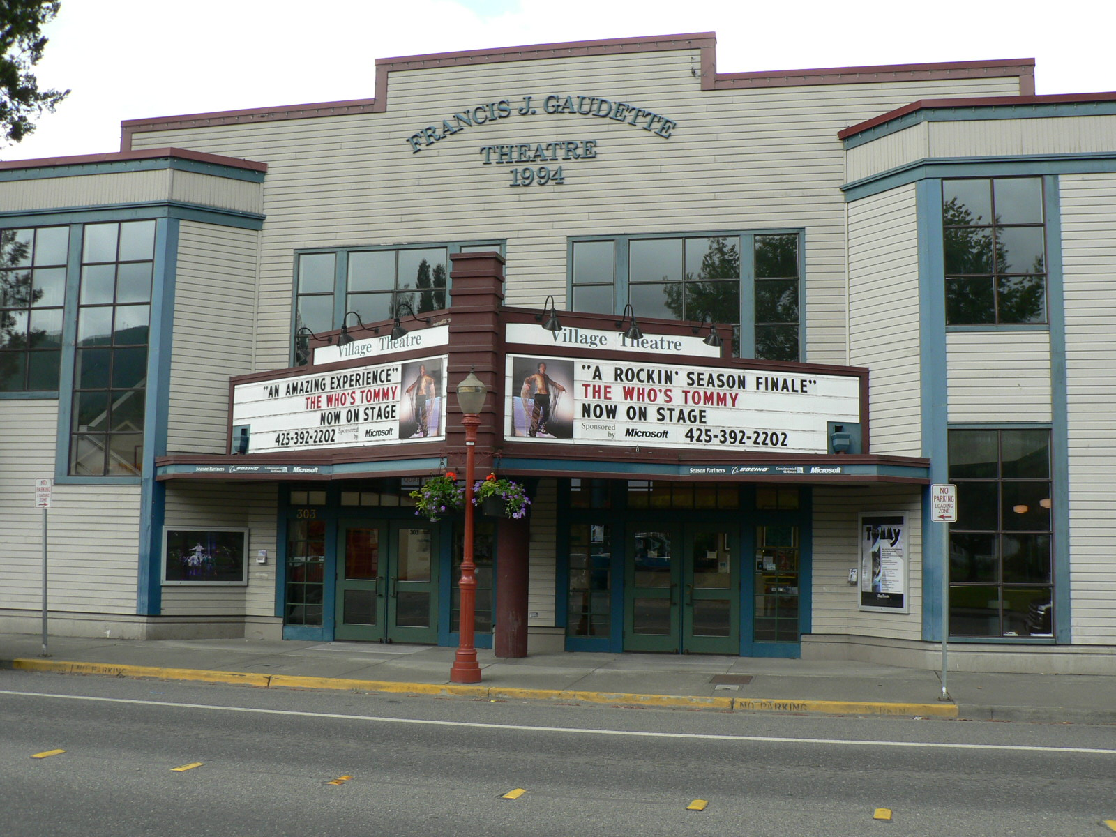 The Francis J. Gaudette Theatre  Home of the Village Theatre's BETM production from May 11 to July 3, 2016