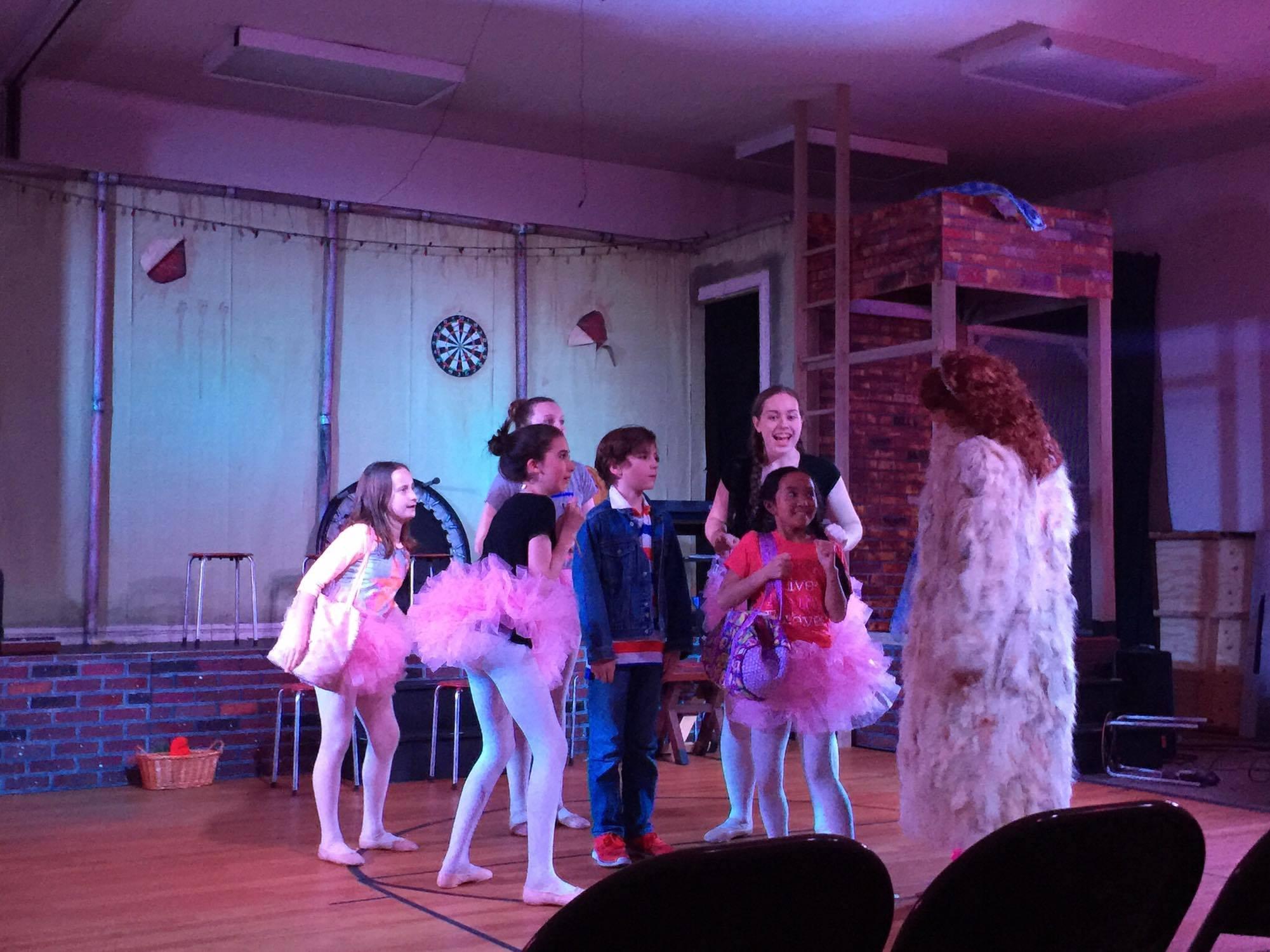 Billy (Parker Fullmore), Mrs. Wilkinson (Monique Bosrock) & the Ballet Girls