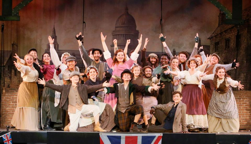 The Cast of TUTS Oliver! (Nolan is sitting in the front row)