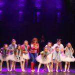 Mrs. Wilkinson (Christine Negerbon), Billy (Jamie Mann) and the Ballet Girls