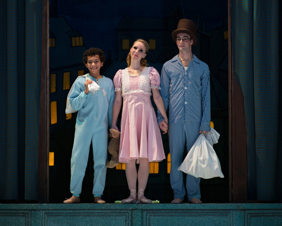 Nathan (left) as Michael Darling in the Cincinnati Ballet's production of Peter Pan