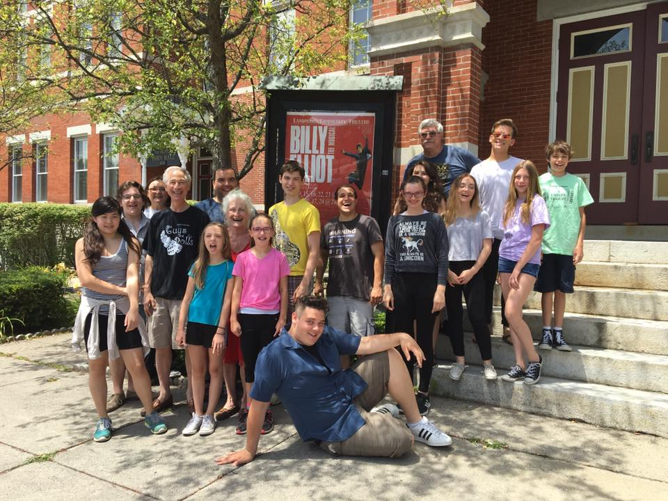 Members of the Cast of Billy Elliot The Musical Pose Outside the Thomaston Opera House