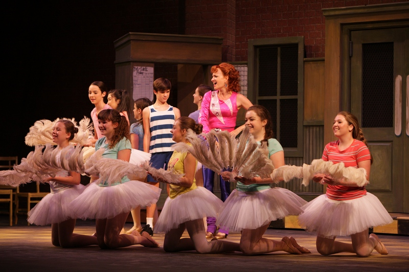 "Mitchell Tobin (Billy), Janet Dickinson (Mrs Wilkinson) and the Ballet Girls perform ""Shine"""