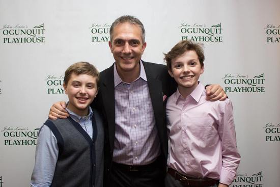 Ogunquit Playhouse Production (2014) Billys Noah Parets (left) and Sam Faulkner (right) Pose on Opening Night with Choregrapher Adam Pelty