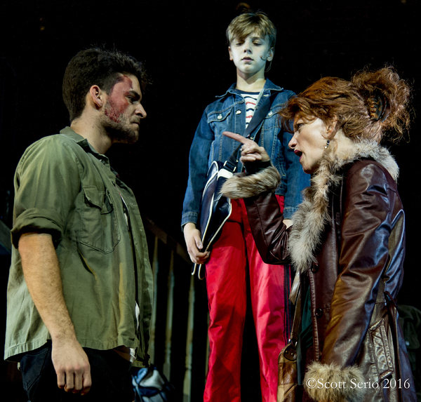Tony (Alex Drost), Billy (Brooks Landegger) and Mrs. Wilkinson (Janet Dickinson)