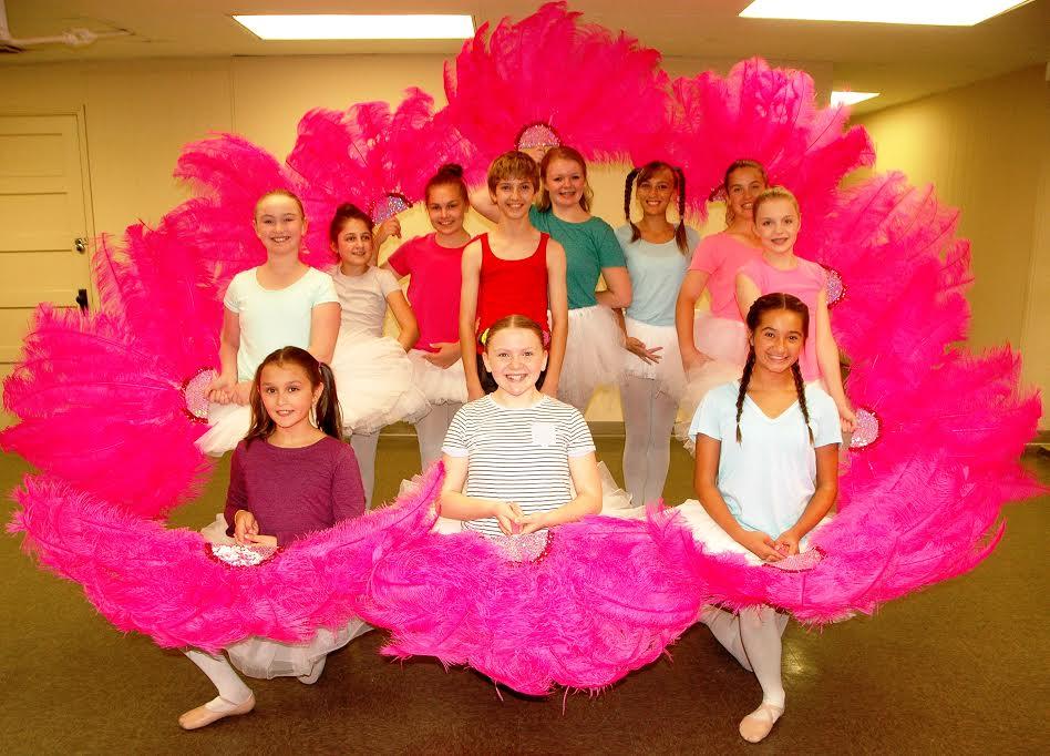 Billy (Peanut Edmonson) and the Ballet Girls