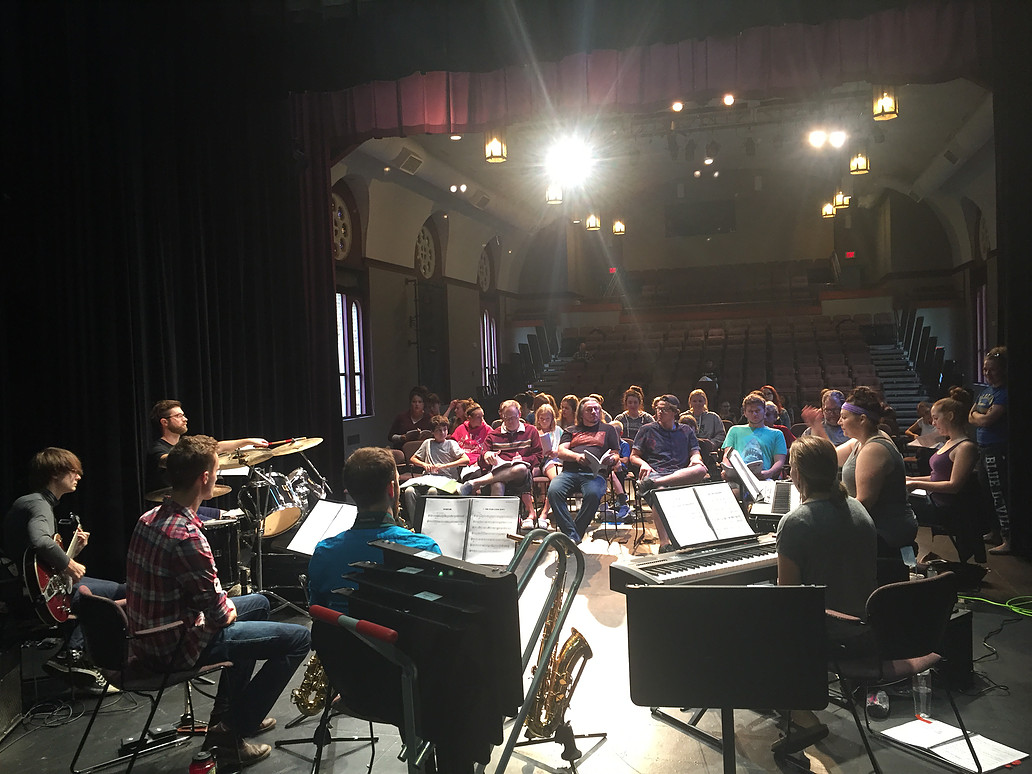 Cast Rehearses With Orchestra