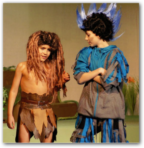 Gavin (left) as Young Tarzan