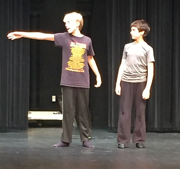 Michael (Alex Michauda) and Billy (Gavin Nienaber) Rehearse 'Expressing Yourself'