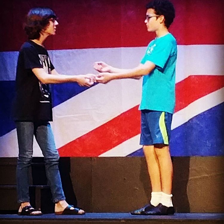 Michael (Noe Solis) and Billy (Campy Rodriguez) rehearse a scene