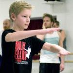 Carl Sjogren rehearsing