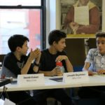 Jacob, Lincoln and at the first read through rehearsal